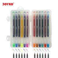 Color Gel Pen / Pulepen / Pena Joyko GPC-247S / 12 Warna / 0.5 mm