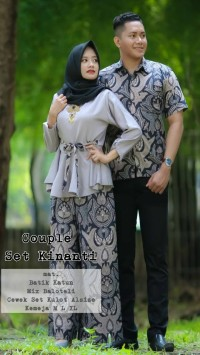 Sarimbit Pasangan Couple Kemeja Kebaya Seragam Batik Kutubaru