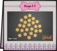 BUNGA 6 C / Bahan Scrapbook Bunga Kertas Paper Flower