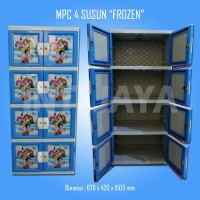 Lemari Plastik / Kabinet Plastik - ApollyStar - Frozen Blue - 4susun