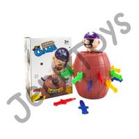 JennToys - Mainan anak Running Man Tong Bajak Laut Jumping Pirate Game