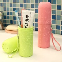 Dengan tali tabung sikat gigi travelling toothbrush storage box