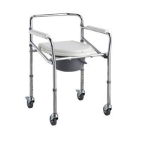 Kursi BAB / Commode Chair Roda bisa dilipat untuk manula
