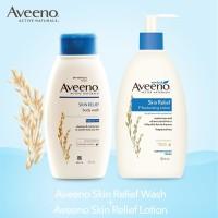 Aveeno BUNDLE/PAKET Skin Relief Body Wash & Moisturizing Lotion 354 mL