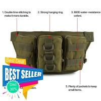 Tas Pinggang Army Outdoor - Waist Bag Import - Sling Bag Army Pria F59