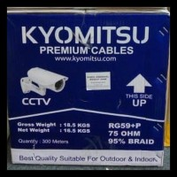KABEL CCTV RG 59 + POWER (300 METER) COAXIAL KYOMITSU RG59 + P 300M