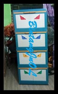 BEST SELLER LEMARI PLASTIK CLUB 4 SUSUN BESAR POLOS CMMY 4 BERKUALITAS