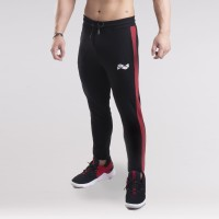 Stripe Jogger - Black and Red
