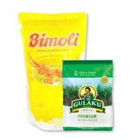 Gulaku 1 Kg & Minyak Goreng Bimoli 1 Liter