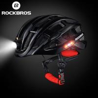 murah Helm Sepeda Rockbros ZN1001 Bike Helmet Light Lampu