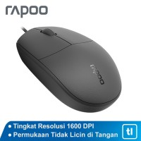Mouse Office Rapoo N100 Original Garansi Resmi