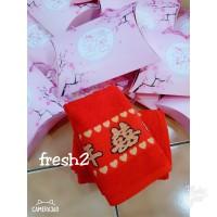 souvenir tapai/handuk tepai+peperbag pink