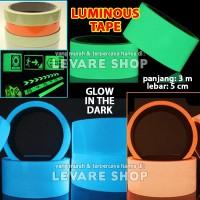 Lakban Fosfor 5cm - Glow in the Dark Tape Selotip Nyala Lebar 5 cm