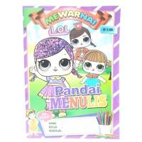 Buku Edukatif Mewarnai Pandai Menulis LOL Anak Perempuan