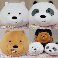 Bantal Boneka Bare Bears Bear Panda Beruang Kepala