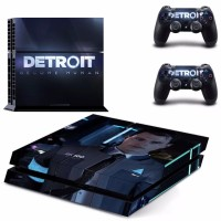 Skin PS4 tipe fat Detroit become human gambar Connor RK-800