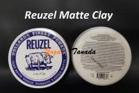 Pomade Reuzel Matte Matt Clay Strong Hold 4 oz (FREE SISIR SAKU)