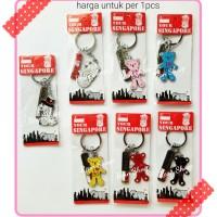 gantungan kunci souvenir singapur/singapore/singapura