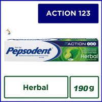 PEPSODENT Action 123 HERBAL 190 g / 190gr Odol Pasta Gigi Murah