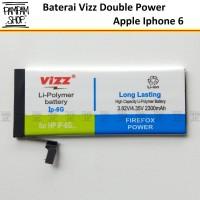 Baterai Vizz Double Power Original Apple Iphone 6 6G Batre Batrai Ori