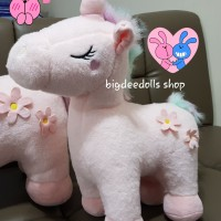 BONEKA UNICORN BESAR IMPORT BIG UNICORN DOLL PLUSH IMPORT DOLL