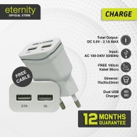 Eternity - Travel Charger Dual Port / Kabel Micro USB / Fast Charging
