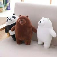 Boneka Bare Bears Grizzly Panda Polar Ice Bear Boneka Beruang Import