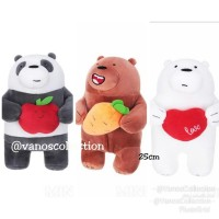 We Bare Bears Festival Series Plush Toy Boneka Ice Bear Panda Grizz