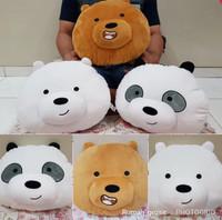 Jual Bantal Boneka Bare Bears Bear Beruang Panda Kepala Import