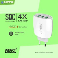 Hippo Adaptor Charger Nero 3 USB Port Value Pack