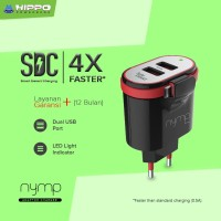 Hippo Nymp 2Ports 4.4A Charger + Kabel Micro Built in (SP)