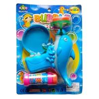 Bubble Gun Dolphin 4 Mata Mainan Anak Pistol Gelembung Busa