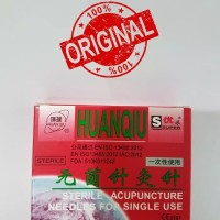Jarum Akupuntur Huanqiu Super dus merah isi 100 uk 0.20x13mm Hijau