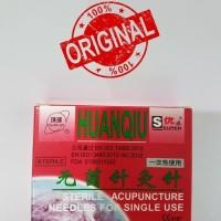 Jarum Akupuntur Huanqiu Super dus merah isi 100uk 0.25x40mm Hijau