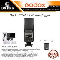Godox TT560 II + Wireless Trigger - Flash TT 560II Universal Speedlite