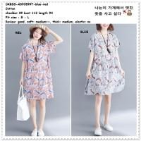 Loose Mini Dress Santai Wanita Korea Import Jumbo Big Size AB935997