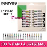 Reeves 18 Acrylic Color Set / Reeves Akrilik / Cat Akrilik / Acrylic