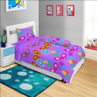 Bed Cover Lady Rose Disperse Single ( 120 x 200 ) - BUTTERFLY PURPLE