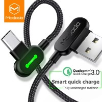 Mcdodo Cable Led Type C To USB Fast Charging Kabel Data MCDODO
