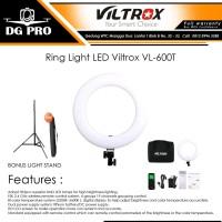 Ring Light LED Viltrox VL-600T BONUS Stand - Ringlight VL600T Ringlite