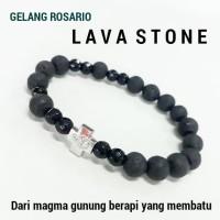 GELANG ROSARIO LAVA STONE ONYX