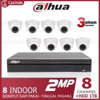 CCTV DAHUA 8 KAMERA 2MP HDD 1TB (8 INDOOR)