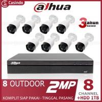 CCTV DAHUA 8 KAMERA 2MP HDD 1TB (8 OUTDOOR)