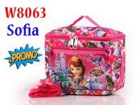 Tas Bekal Makan Lunch Bag Cartoon Anak Import W8063 8063 Sofia Pink