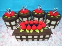 SET TOPLES FLANEL MURAH CHOCO BROWNIE 4 TOPLES