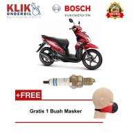 Bosch Busi Motor Honda Beat UR5DC (2 Pcs) 0242045005 - Free Masker
