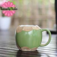 Mug Keramik Buah Kelapa Unik & Lucu - Mug Cantik untuk Souvenir
