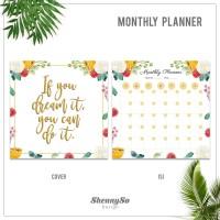 Monthly Planner | Monthly Schedule | Agenda Bulanan| Kode : PM03