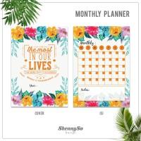 Monthly Planner | Monthly Schedule | Agenda Bulanan| Kode : PM02