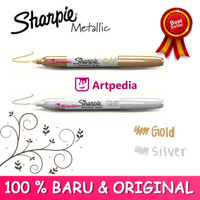 Sharpie Metallic Fine Point Permanent Marker (Silve, Gold Metallic)